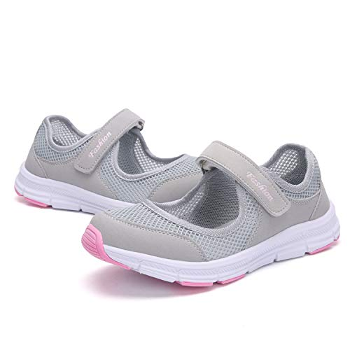 SAGUARO Womens Comfy Breathable Walking Shoes Lady Soft Fashion Mary Jane Sneakers Lightweight Flat Shoes