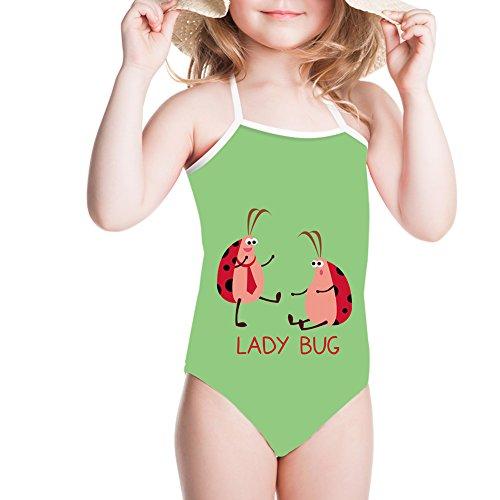 Ertyz Cute Ladybug Swimwear Girl Strings Swimming Suit One-Piece Clothes (Ladybug Couple, 7-8T) by Ertyz