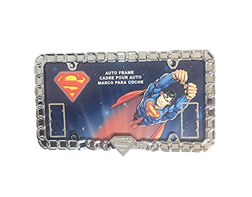 (DC Comics Chrome Metal Superman License Plate Frame)