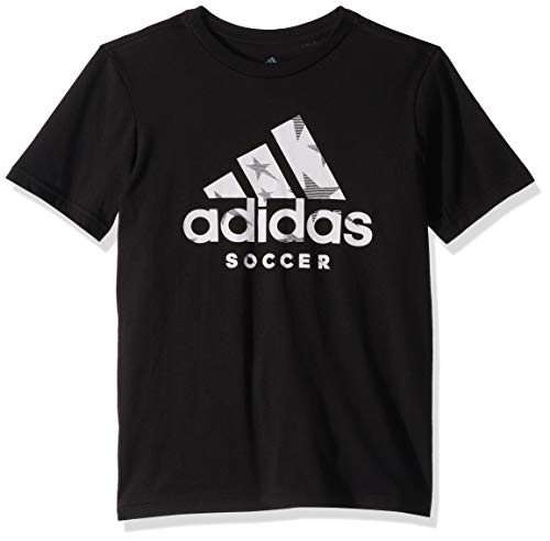 (adidas Youth Badge of Sport Soccer Tee, Black, X-Large)