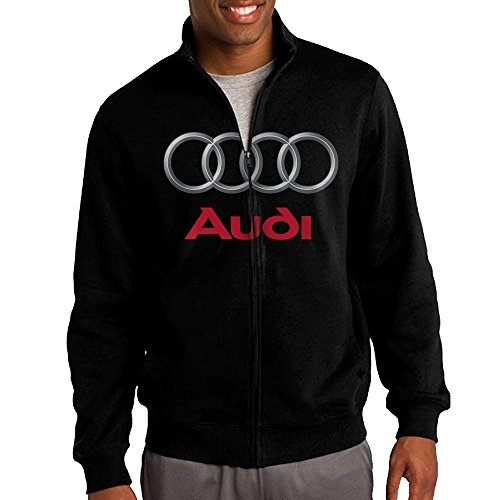 Audi Logo Stand Collar Zipper Jacket