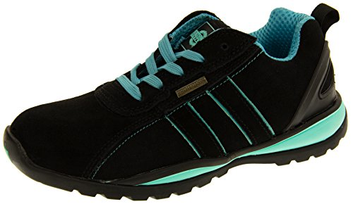 Northwest Territory Ottowa Black And Blue/Green Suede Leather Toe Cap Safety Shoes 8 B(M) US by Northwest