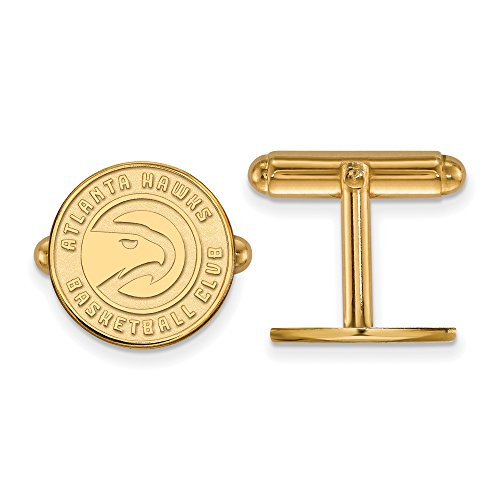 NBA Atlanta Hawks Cuff Links in 14K Yellow Gold by LogoArt