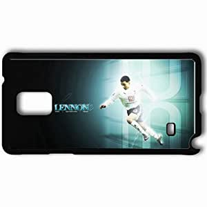 Personalized Samsung Note 4 Cell phone Case/Cover Skin Aaron Lennon Football Black