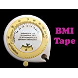 Gadget Hero's BMI (Body Mass Index) Anatomical Tape Measure For Fitness Body Fat Measurer.