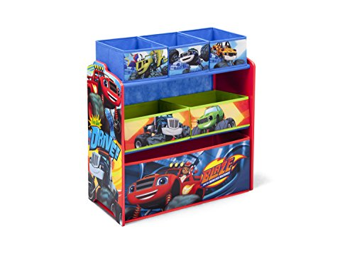 Delta Children Multi-Bin Toy Organizer, Nick Jr. Blaze and the Monster Machines (Cars Multi Bin Toy Organizer compare prices)