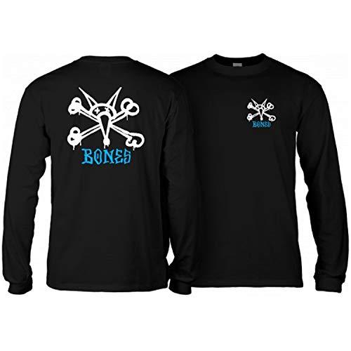 Powell-Peralta Skateboard Long Sleeve Shirt Rat Bones Black Size M -  CTLPPVATX