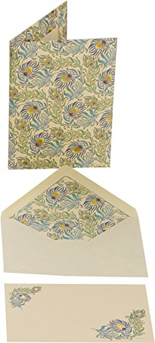 Kartos 01 683500 Made in Italy, Peacock Large Cards Portfolio (Italian In Feather)