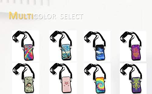 Cell Phone Purse Crossbody Shoulder Bag with Adjustable Strap for Girls Women Walking Dating Money Pattern Dog Shopping