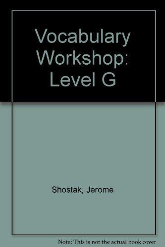 Download Vocabulary Workshop: Level G pdf epub
