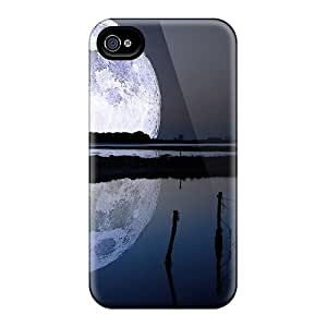 Tpu Fashionable Design Giant Moon Rugged Case Cover For Iphone 4/4s New