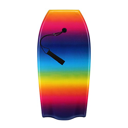 Random 37 inch and 41 inch High Performance Bodyboard Lightweight with EPS core Rainbow and Color dots