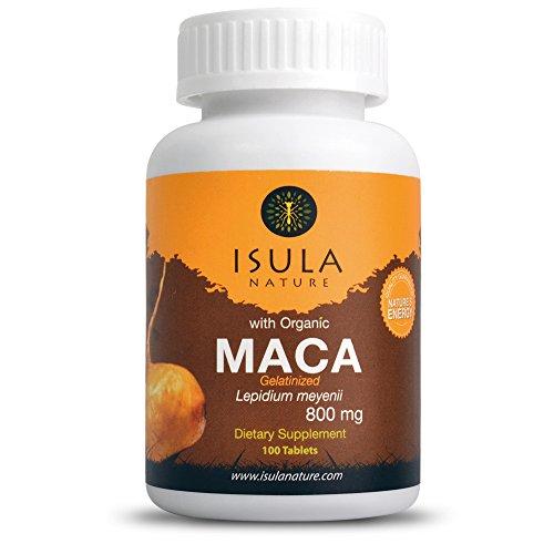 ISULA NATURE racine de Maca gélatinisée bio 800 mg x 100 comprimés