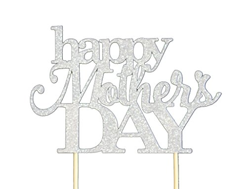All About Details Silver Happy Mother's Day Cake Topper
