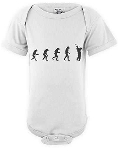 shirtloco Baby Evolution of Man to Golfer Onesie Bodysuit, White 18 Months