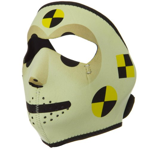 Neoprene Full Face Mask-Crash Test Dummy (Crash Dummy Costumes)