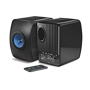 KEF LS50W - SP3903BA - Enceinte sans fil - Enceintes actives | HiFi | Airplay 2 Enceintes | Spotify Connect, TiDAL | LS50 Meilleur système de musique active et système stéréo - Noir/Bleu 6