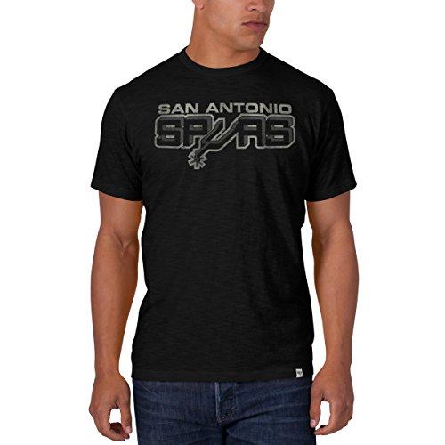 (NBA San Antonio Spurs '47 Brand Men's Scrum Basic Tee, Jet Black, Large)