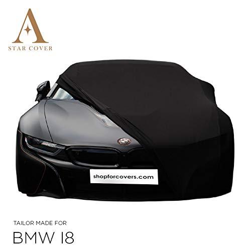 INDOOR AUTOHOES OP MAAT VOOR BMW I8 ZWART GARAGE COVER PERFECTE PASVORM SUPERSNELLE LEVERING