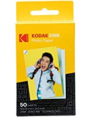 "Kodak 2""x3"" Premium Zink Photo Paper (50 Sheets) Compatible with Kodak PRINTOMATIC, Kodak Smile and Step Cameras and Printers"