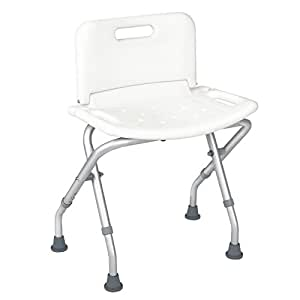 jcmaster collapsible shower bench with back for adult portable bath seat with back. Black Bedroom Furniture Sets. Home Design Ideas