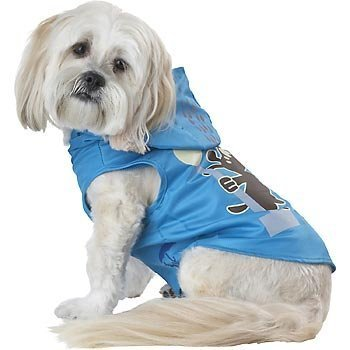 Wagging In The Rain Dog Raincoat Color: Blue, Size: Extra Small