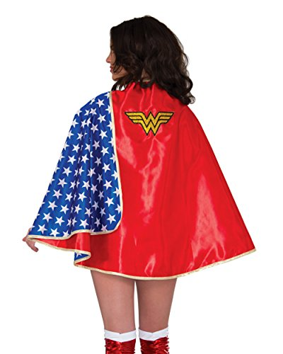 Easy Costumes For Women (Rubie's Women's Dc Comics Wonder Woman Deluxe 30-inch Cape, Multi, One Size)
