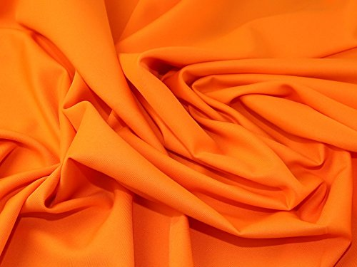 (Polyester Twill Suiting Dress Fabric Orange - per metre)