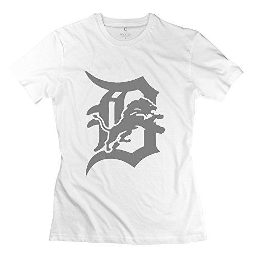 Women's Baseball Detroit Tigers Logo Tees Size L White