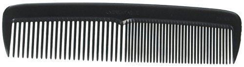 Hair Comb 5'' Pocket Size Unbreakable, 72 Piece in a Jar, Black, by Ameliana