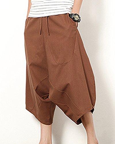 ShiFan Hombre Pantalon Pata Elefante De Lino Con Anchura Regulable De La  Cintura 6dO0vkt7MR d4fdf98c3ec