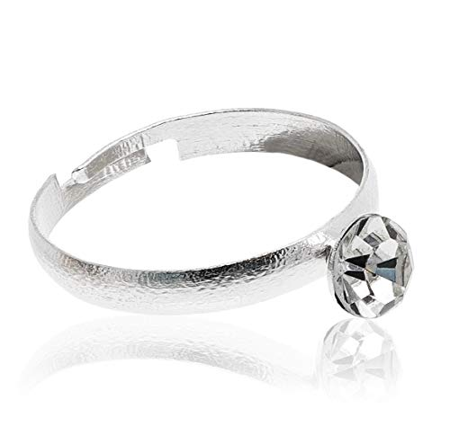 Juvale 100-Count Bulk Silver Diamond Wedding Rings for Bridal Shower Party, Favors, and Table Decoration ()