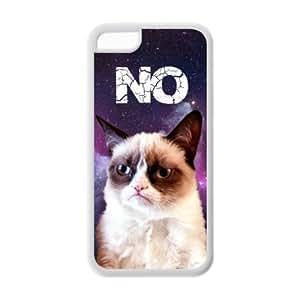 MEIMEI Customize Cartoon Grumpy Cat TPU Case For ipod touch 5LINMM58281