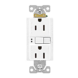 Eaton GFCI Self-Test 15A -125V Duplex Receptacle (3-Pack), White