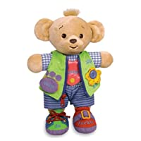 Genius Baby Toys Learn to Dress Doll Bearemy Bear - 12""