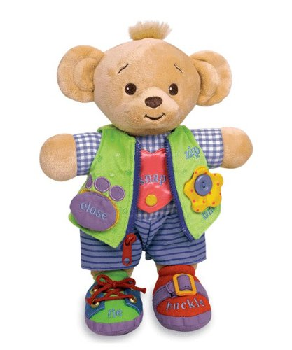 "Learn to Dress Doll Bear - 12"" from Genius Baby Toys"
