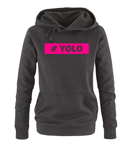 Colori Comedy S Yolo Cappuccio Vari Nero Donna Hoodie Fucsia Sweater Taglia Shirts Xl rvq6wgr