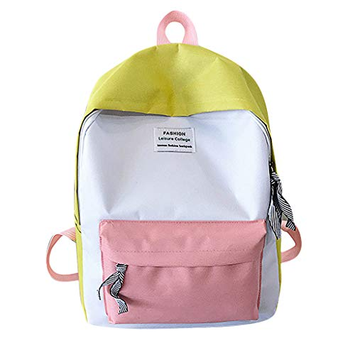 Dressin Unisex Schoolbag Travel Hiking Bag Color Block Backpack Collection Luminous Bag Totes ()