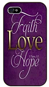 iPhone 5 / 5s Bible Verse - Faith, love, hope. 1 Thess 1:3 - black plastic case / Verses, Inspirational and Motivational