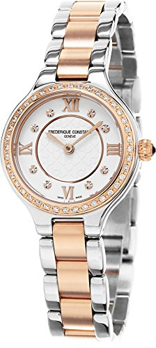 Frederique Constant Classics Delight Women's Silver Dial Two Tone Swiss Diamond Watch FC-200WHD1ERD32B