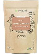 Bare Blends Lion's Mane Mushroom - Australian Certified Organic (ACO) - Brain Boost - 90g