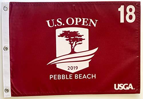 2019 u.s. open golf flag pebble beach red silkscreen logo new pga