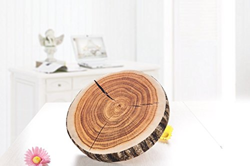Tree Stump Pillow Plush | Round Wood Slice Pillow 2