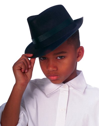 (Rubies Black Fedora Child Hat, Black)