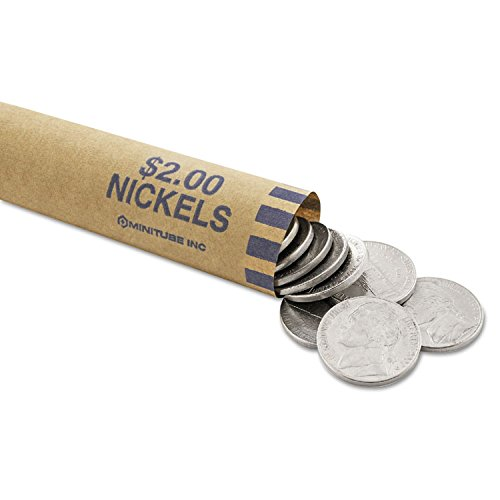 Steelmaster Nested Preformed Coin Wrappers, Holds up to $2 In Nickels (MMF2160640B08)