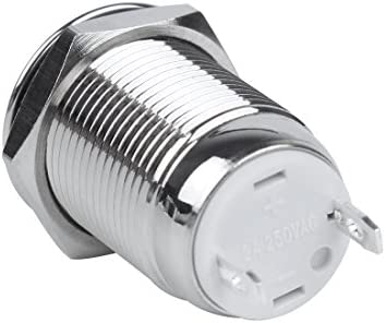 Larcele 12mm Mini Interruptores de Bot/ón Metal Impermeable Pestillo Push Button 5 Unidades JSANKG-01