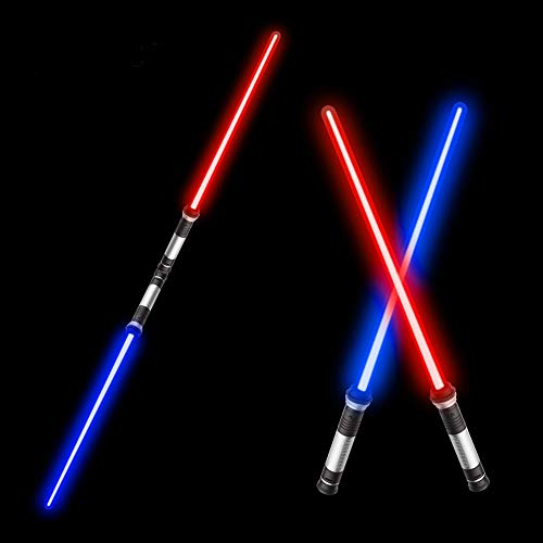Beyondtrade Laser Sword'S for Kids, Double Bladed Light Saber Toy with Sounds (Motion Sensitive) - 7 Colors - 26