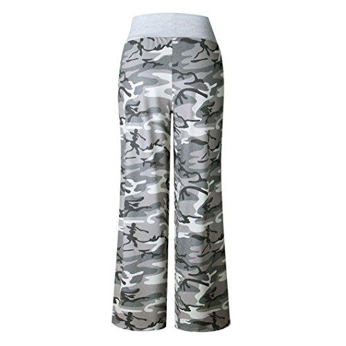 All Jogging Imprim Moderne Camouflage Boot Longue Style Femme Cool en Pants Pantalon Cordon Yoga Pantalons Fitness Over SANFASHION Doux Casual qPwSIp4