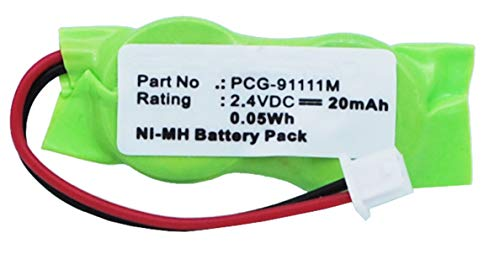 Synergy Digital Battery Compatible with Sony VAIO PCG-SRX99 CMOS/BIOS Battery (Ni-MH, 2.4V, 20 mAh) - Repl. Sony 2/V15H - Nickels Pcgs