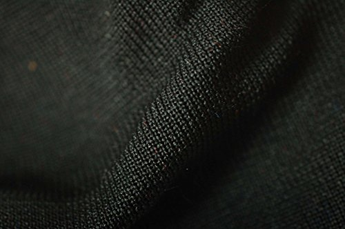 Neotrims Polyester Stretch Knit Rib Fabric to Trim Garments, Waistbands, Cuffs and Welts or for Outerwear. Light Weight Jersey Material for Apparel, Resilient, Sports Look, Light Sheen: Black, Royal Blue, Navy, Purple, White, Wine, Cerise and Red Colours ()